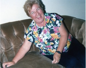 My mom laughing; despite her aging body, she never lost her sense of humor