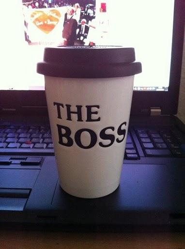 """coffee mug with """"The Boss"""""""
