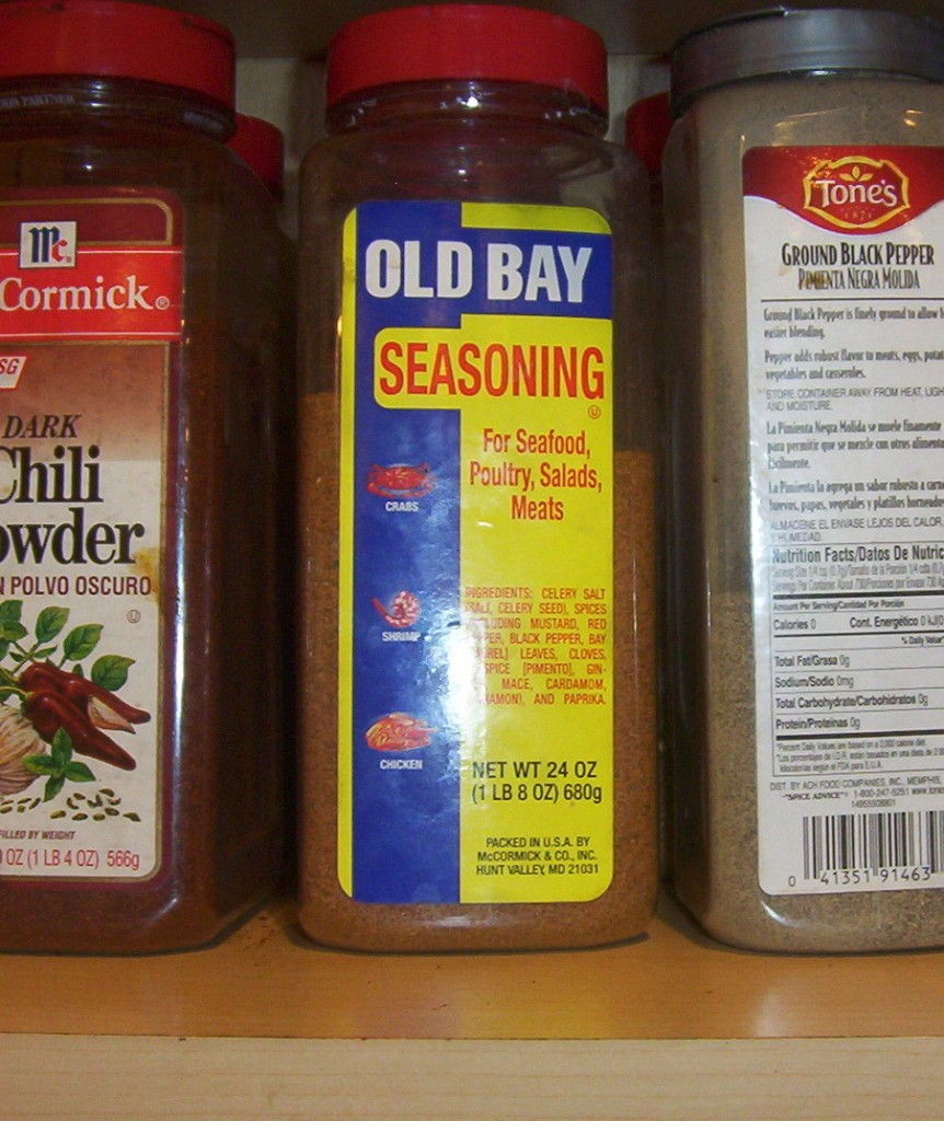 bbottle of Old Bay seasoning
