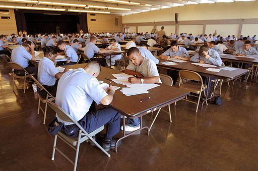 Emotions 101 -- Navy sailors taking a test
