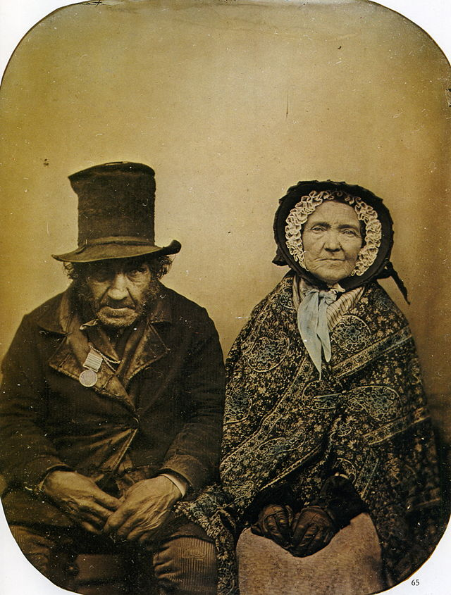 very old, ery ugly couple--public domain