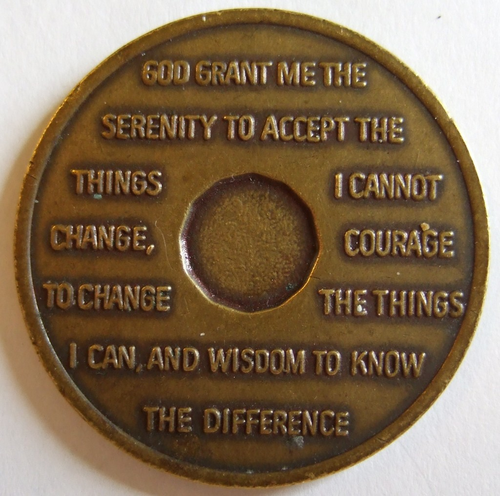 "There's a reason why it's called The Serenity Prayer--because that's the tough part, accepting what we can't control (photo by Jerry ""Woody"" CC-BY-SA 2.0)"