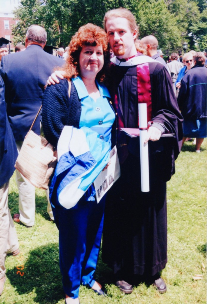 Age 50, at my son's college graduation