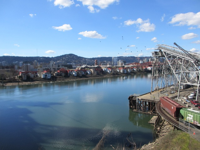 The Willamette River in Portland