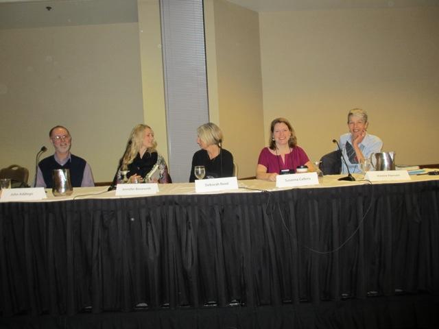 Lovely, Dark & Deep: What Makes a Literary Mystery panel with authors John Addiego, Jennifer Bosworth, Deborah Reed, Susanna Calkins and Vinnie Hansen