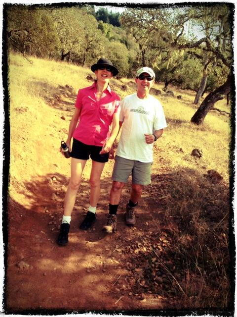Vinnie and her husband hiking in fall