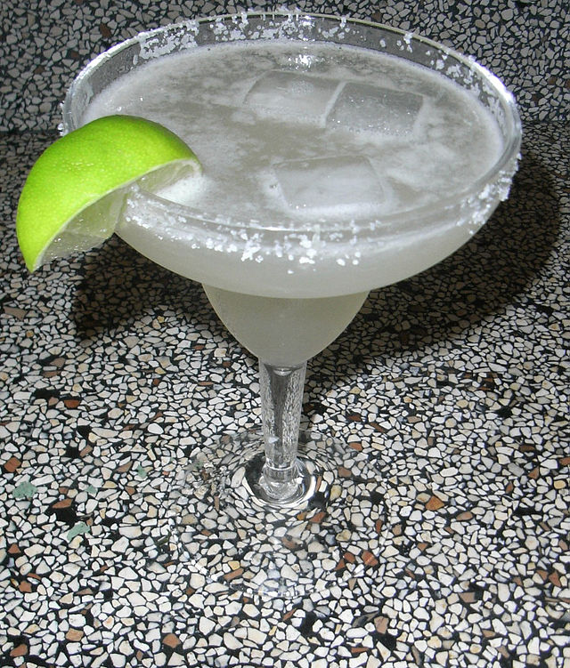 a margarita, with lime