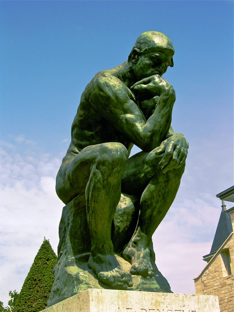 Rodin's The Thinker (photo by Andrew Horne, public domain, Wikimedia)