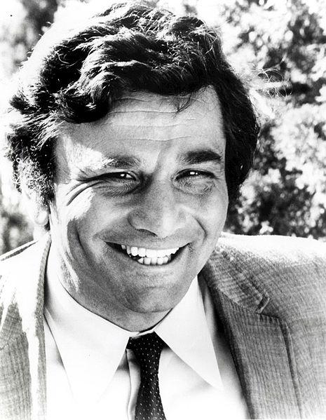 Peter Falk as Columbo. NBC Television, 1973, via wikimedia commons (CC).