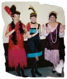 Me, Christine and our colleague Georgene, dressed as flappers (many moons ago)