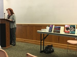 Presenting at Writers' Alliance of Gainesville, 2017