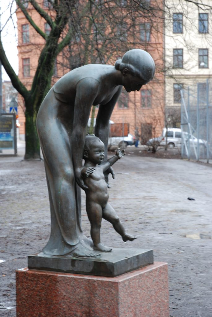 statue of baby taking first steps