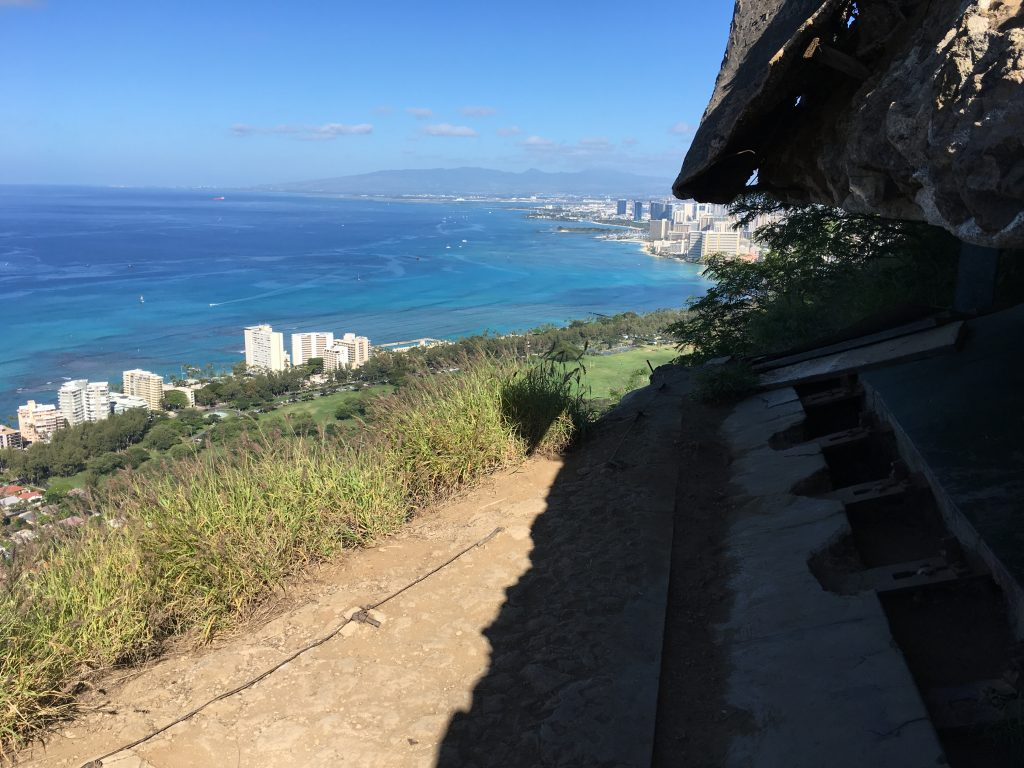 View from Diamond Head through edge of pillbox.