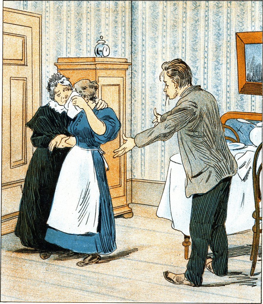 cartoon of couple arguing