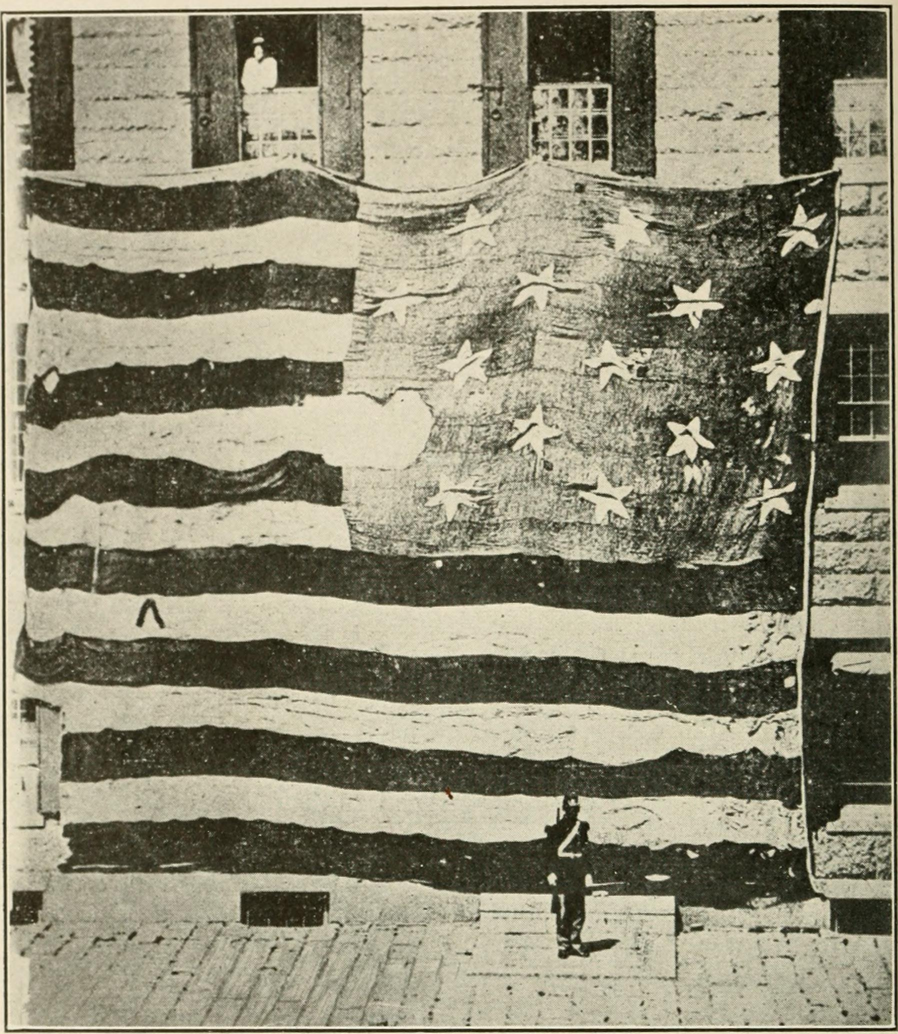 The remnants of the Ft. McHenry flag