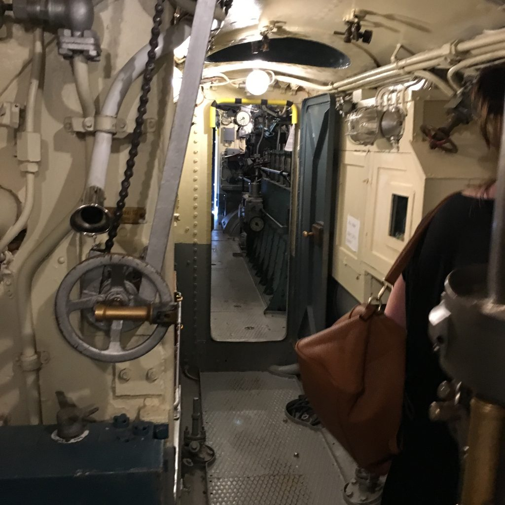 inside of submarine