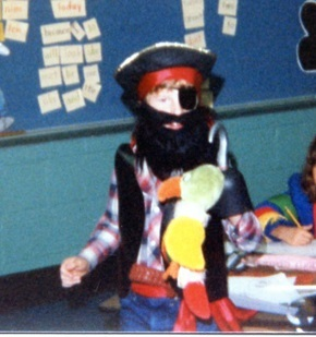 My son's DIY Halloween costume in 2nd grade.