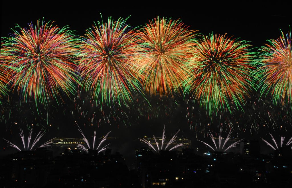 Fireworks for avoid New Year's resolution failure