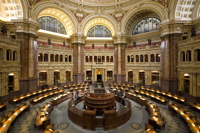 Where the research takes me: to the Library of Congress (main reading room)