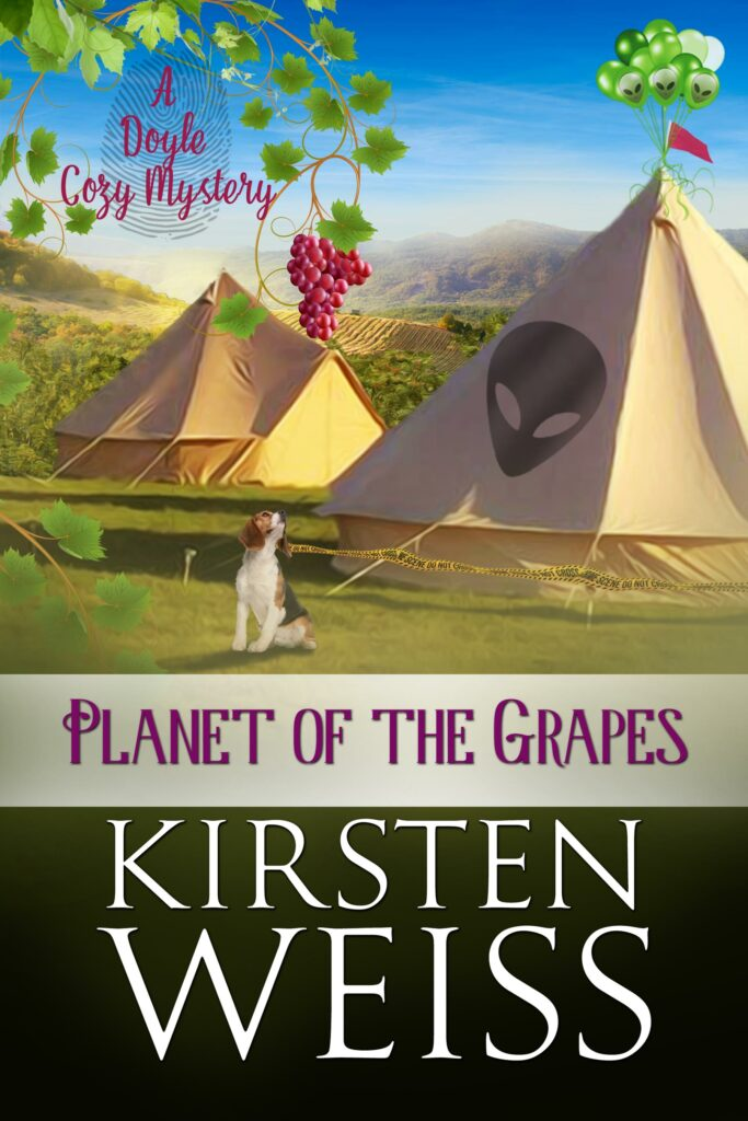 May is National Pet Month: Planet of the Grapes book cover with Bailey