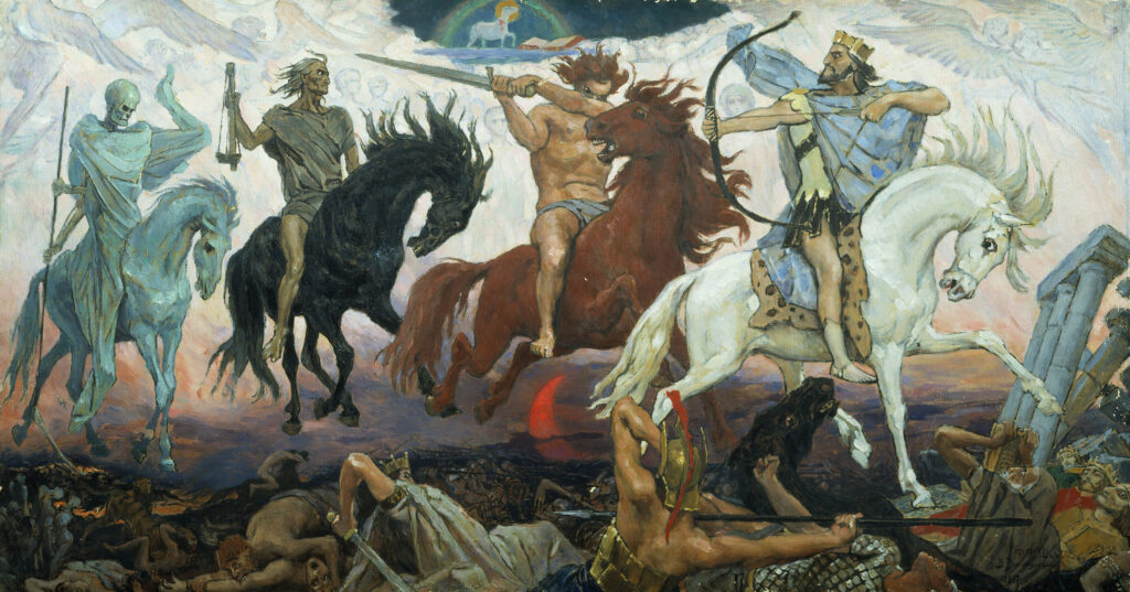 The Four Horsemen of the Apocalypse -- symbolizing the four predictors of divorce