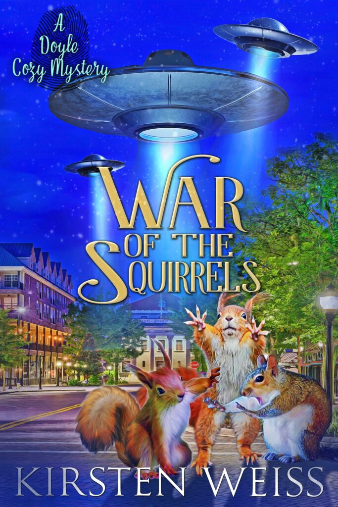 War of the Squirrels book cover -- from spin-off series for Doyle Witches