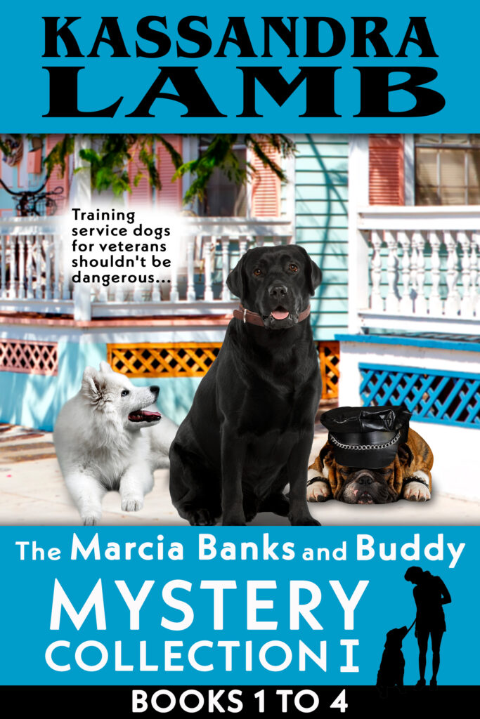 new book bundles ~ Marcia Banks and Buddy service dog mysteries