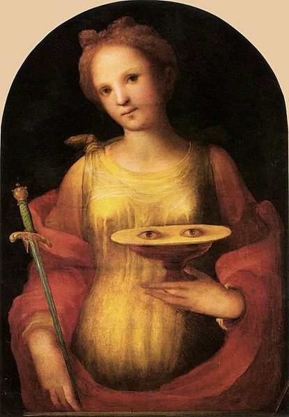 Renaissance painting of St. Lucy
