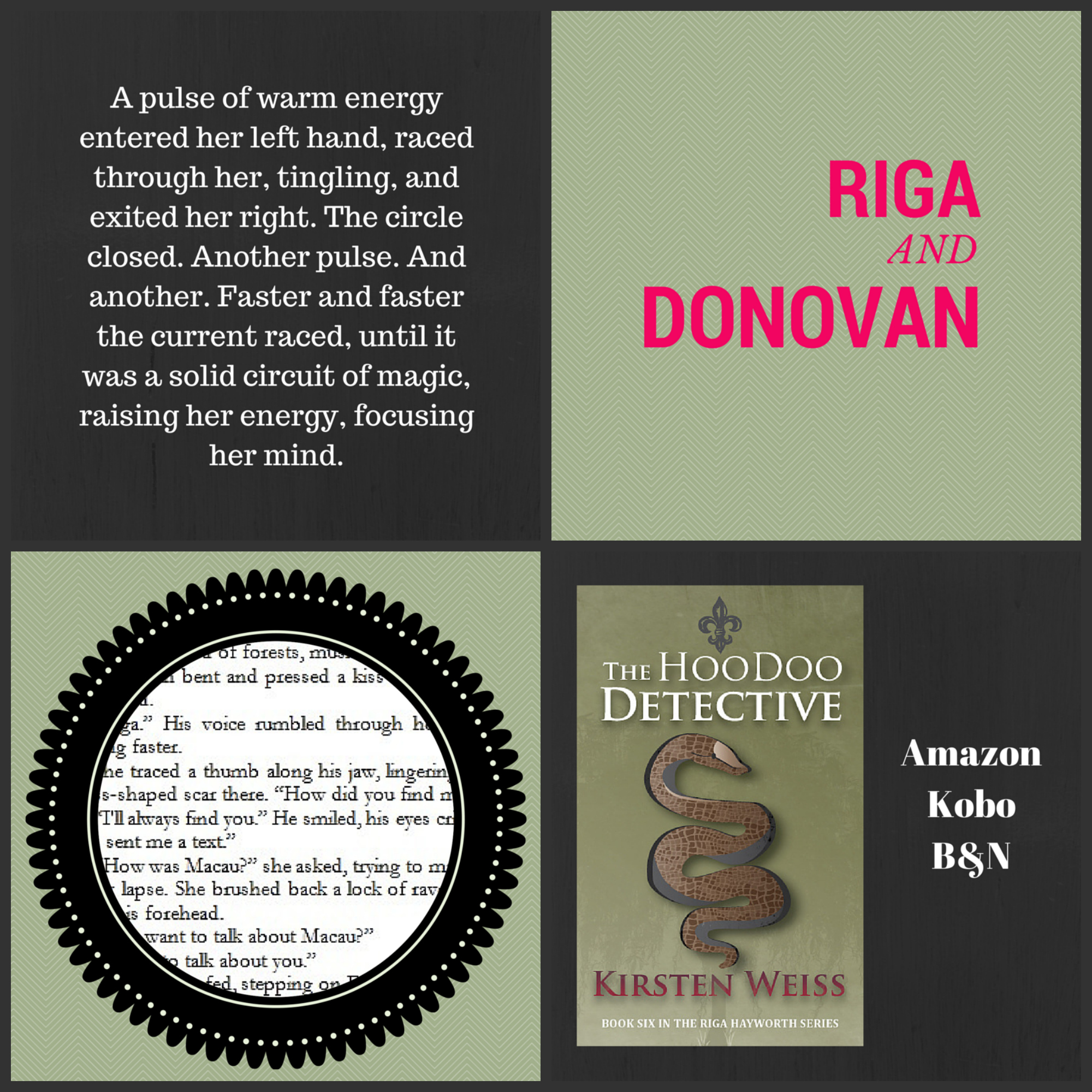 Hoodoo Detective Collage Of Cover And Excerpts