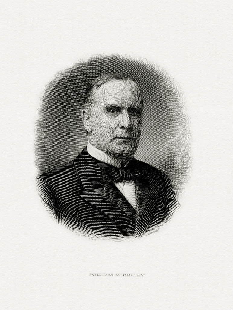 engraving of McKinley