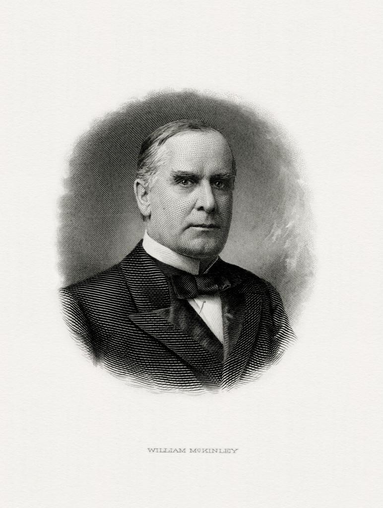 engraving of McKinley